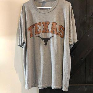 University of Texas gray short sleeve tee shirt